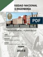 LAB 3° - SEDIMENTACION (PROCE II)