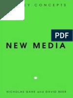 New Media. the Key Concepts