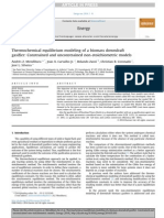 Thermochemical Equilibrium Modeling of a Biomass Downdraft Gasifier Constrained and Unconstrained Non-stoichiometric Models