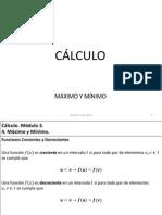 Cálculo Máximo y mínimo