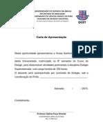 Carta Apresentação - Emitida Pelo Coordenador de Estágio