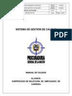 Man Manual de La Calidad Procuraduria Gral de La Nacion Gobcol 2008