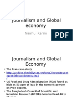 Journalism and Global Economy Food Adulteration