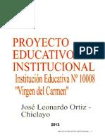 Proyecto Curricular de Institución Educativa Virgen Del Carmen Usb