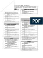 Compass Learning Math - Handbooks Spreadsheet