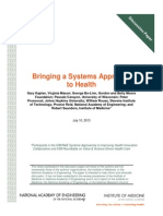 Bringing a Systems Approach to Health