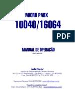 Manual Central de PABX 10040 e 16064
