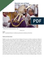 Francisco- Celebración Penitencial 13-3-15 Estamos Llamados a Mirar Más Allá, A Centrarse en El Corazón Para Ver de Cuánta Generosidad Cada Uno Es c