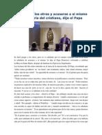 Francisco- Homilía 2-3-15 No Juzgar a Los Otros y Acusarse a Sí Mismo Es La Sabiduría Del Cristiano
