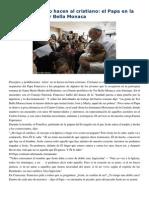 Francisco- Homilía Visita a Tor Bella Monaca 8-3-15 Los Preceptos No Hacen Al Cristiano