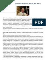 Francisco- Palabras Sobre El Genocidio Armenio a Católicos Armenios 12-4-15 La Crueldad Nunca Puede Ser Atribuida a La Obra de Dios