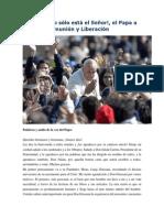 Francisco-Audiencia Con Comunión y Liberación 7-3-15 en El Centro Sólo Está El Señor