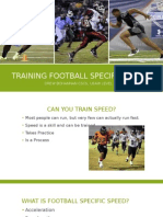 Training Football Specific Speed