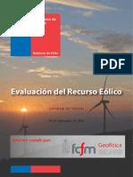 Informe Eolico para región de Valparaiso en Chile