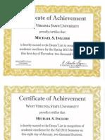 deans list certificates