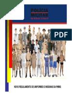 Regulamento de uniformes pmmg