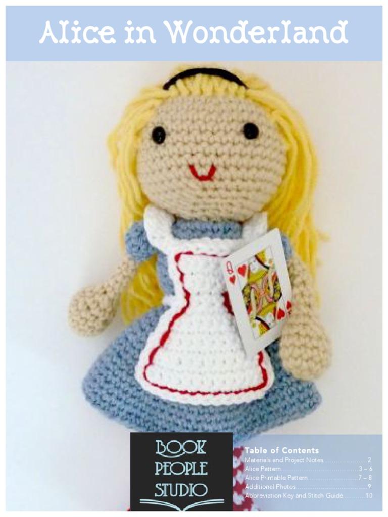Knitting pattern for doll Alice in Wonderland - Katkarmela о вязании   1024x768