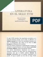 La literatura en el siglo XVIII