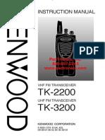 Kenwood TK2200 TK3200 Manual