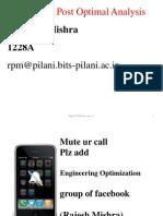 Engineering Optimisation Lecture