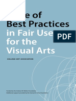Best Practices Fair Use Visual Arts