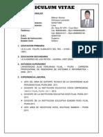 Cv-melvyn Alonso Chiroque Leonardo