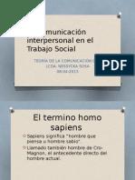 La Comunicación Interpersonal en El Trabajo Social
