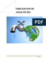POTABILIZACIÓN DE AGUA DE RIO