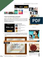 Create a Cross Stitch Effect in Photoshop - Photoshop tutorial _ PSDDude.pdf