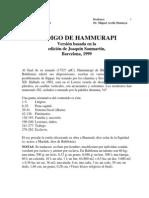 Miguel Arcila - 05 Codigo de Hammurabi