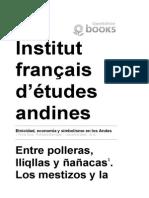 Etnicidad, Economía y Simbolismo en Los Andes