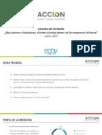 ¿Qué piensan ciudadanos, clientes y trabajadores de las empresas chilenas?