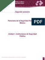 PANORAM de LA SEGURIDAD PUBLICAUnidad 1. Instituciones de Seguridad Pública