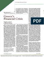 Greece's Financial Crisis - ProQuest
