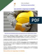Boas Práticas Para Aumentar a Segurança No Trabalho