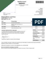 SparkFun Electronics Order #2054231 Invoice