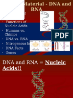 genetic material - dna and rna