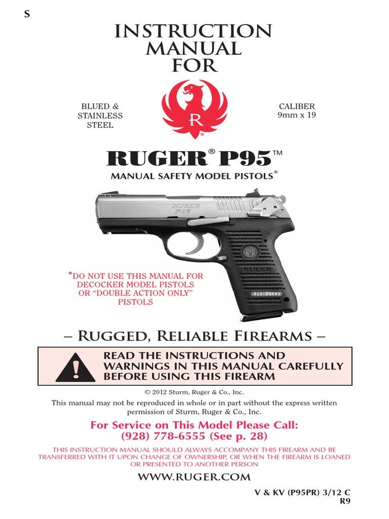 ruger p95 owners manual trigger firearms handgun rh scribd com ruger sr22 owners manual ruger owners manual
