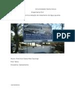 relatorio da estaçao tratamento de agua