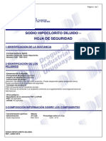 Sodio Hipoclorito Diluido- Msds