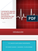 Síndrome coronario agudo sin elevacion del ST