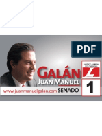 Afiche horizontal con foto Senador Galán