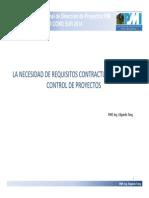 2014.10.22 La Necesidad de Requisitos Contractuales Para El Control de Proyectos