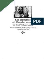 Leibniz Gottfried Wilhelm - Los Elementos Del Derecho Natural
