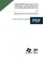 Santos (2009) Una Epistemologia Del Sur CAP1