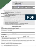 CV of Ankit Rungta