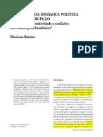 Incentivos da Dinâmica Política sobre a Corrupção