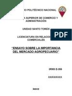 Importancia Del Mercado Agropecuario en La Economía de México (Ensayo)