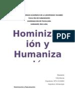 Hominizacion y Humanizacion