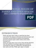 Functional Roles of Parks and Open Spaces